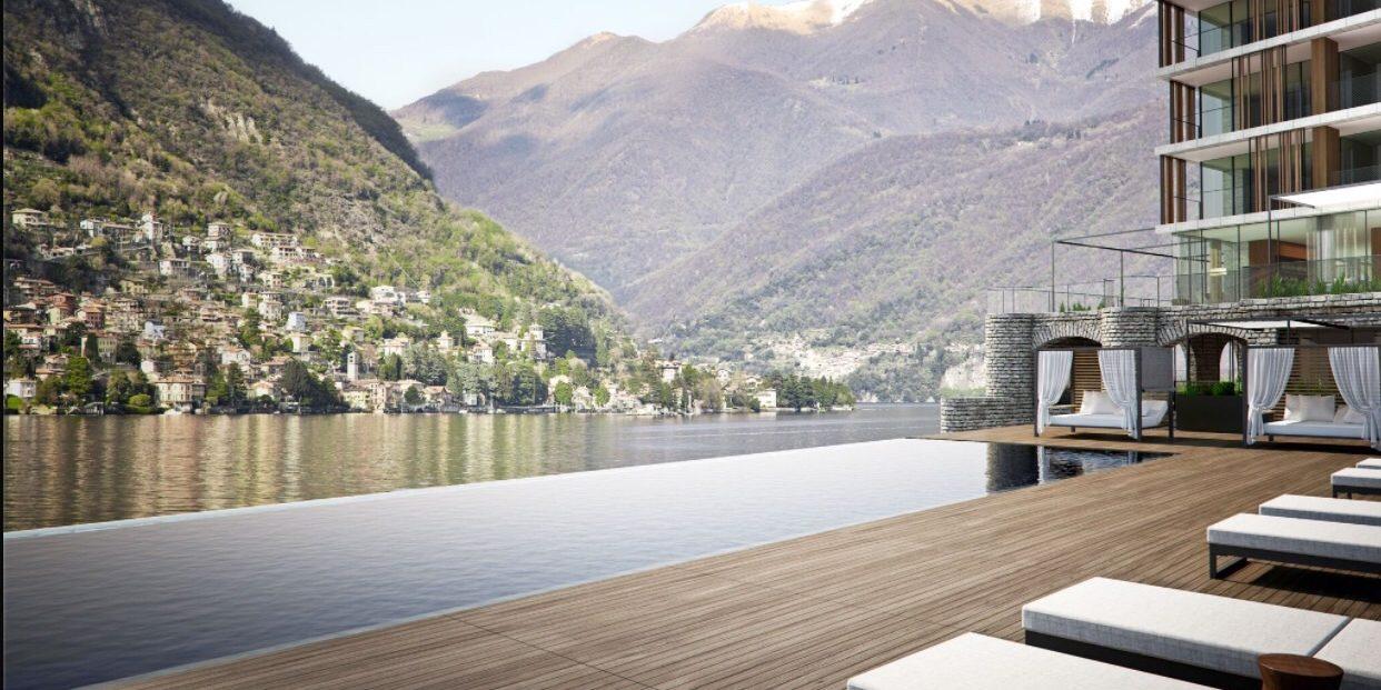 l 39 h tel il sereno le luxe sur le lac de c me laurent. Black Bedroom Furniture Sets. Home Design Ideas